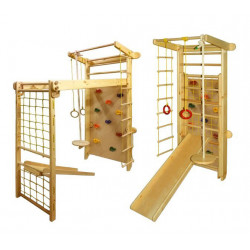 Climbing frame Transformer with Climbing wall